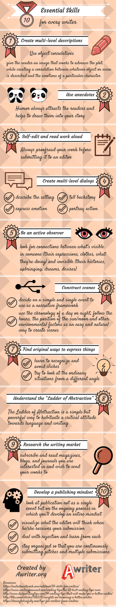10 Essential Skills for Every Writer [INFOGRAPHIC]