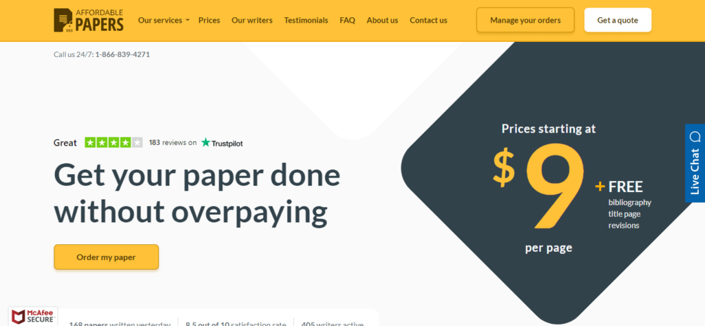 affordable papers reviews