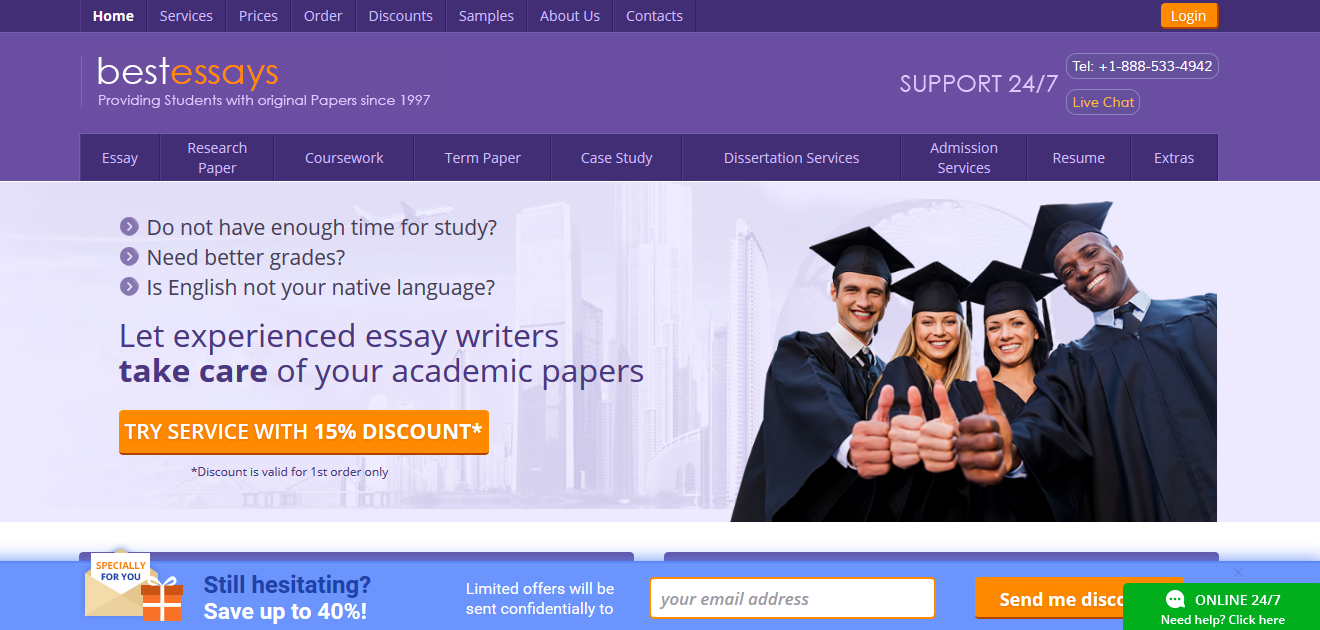 Get Best Essays From Our Affordable Writing Service   EssayThinker Exclusive offer     Discount