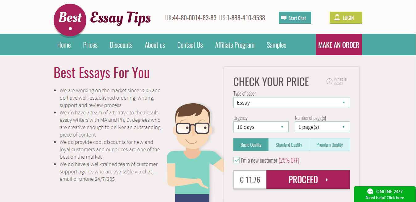 Essay write price