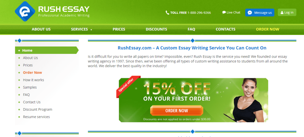 rush essay review